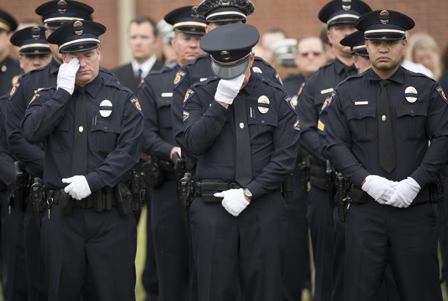 Sad officers