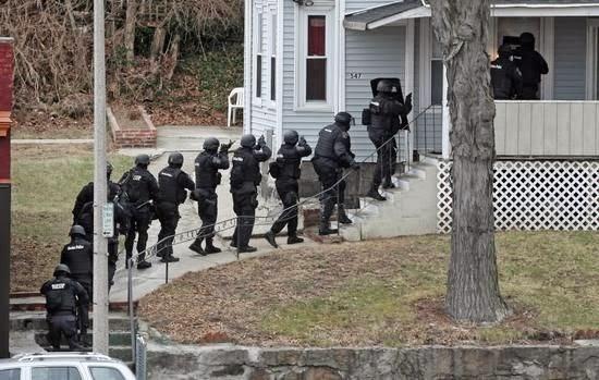 SWAT breaching door